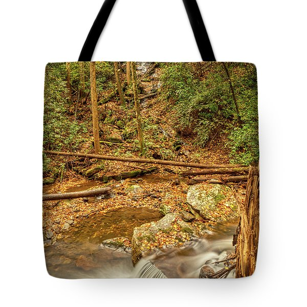 Tote Bag featuring the photograph Stream Waterfalls by Meta Gatschenberger