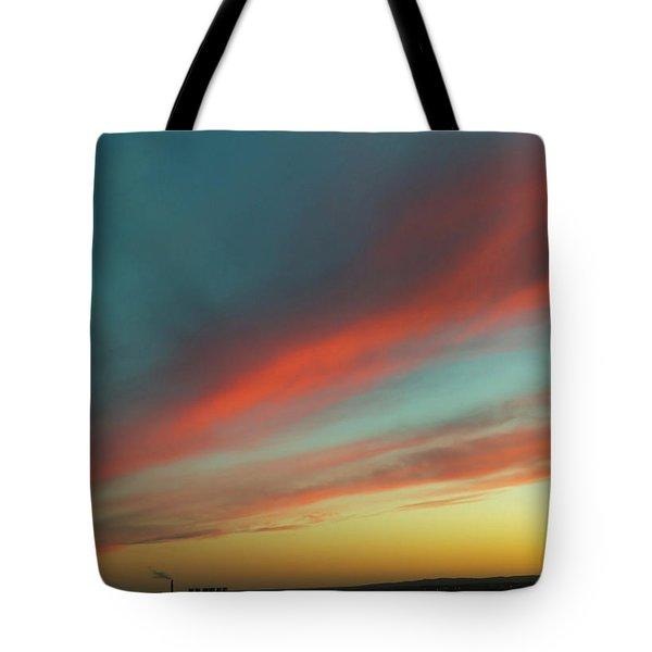 Streaming Sunset Tote Bag