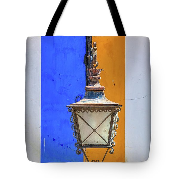 Tote Bag featuring the photograph Street Lamp Of Obidos by David Letts