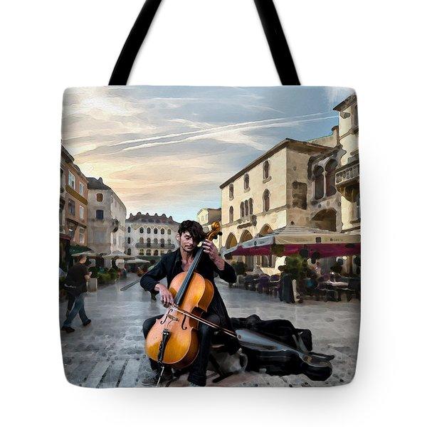 Street Music. Cello. Tote Bag