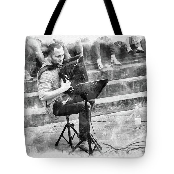 Street Musician In Florence Tote Bag