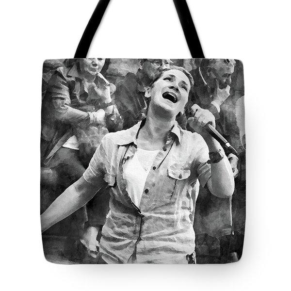 Street Singer In Florence Tote Bag
