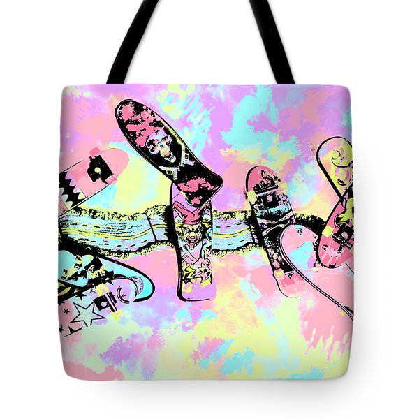 Street Sk8 Pop Art Tote Bag