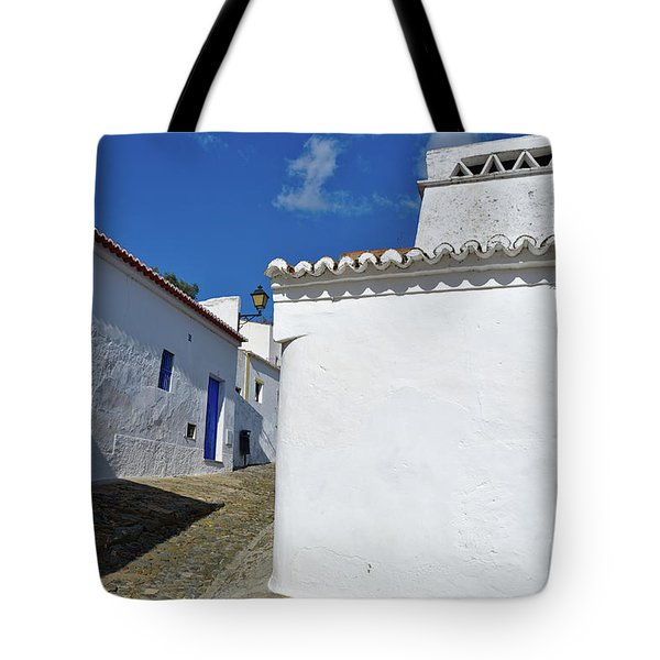 Streets Of A Medieval Castle. Alentejo Tote Bag