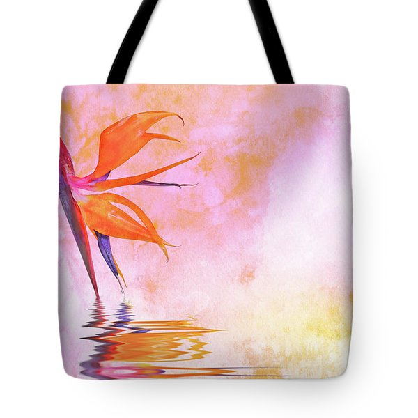 Strelitzia On Pink Tote Bag