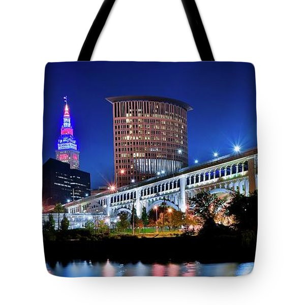 Stretching Out On A Colorful Night Tote Bag