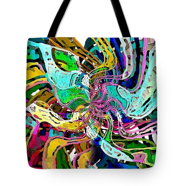 Tote Bag featuring the digital art String Theory by David Manlove