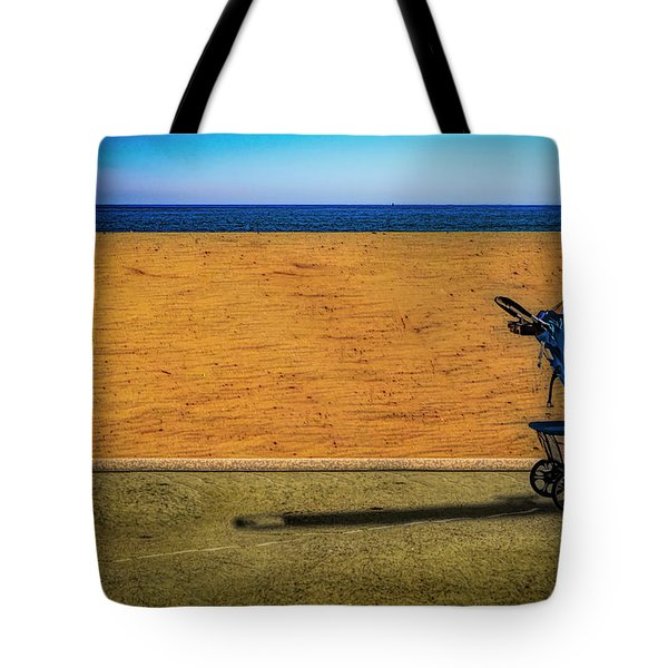 Stroller At The Beach Tote Bag