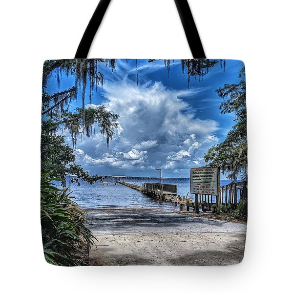 Strolling By The Dock Tote Bag