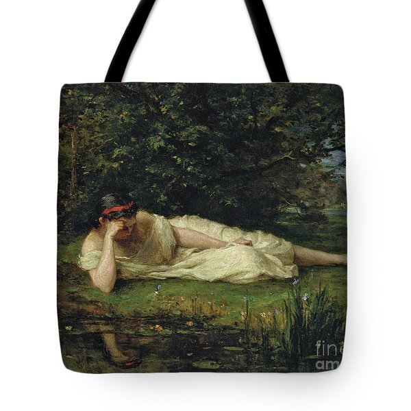 Study At The Waters Edge, 1864 Tote Bag