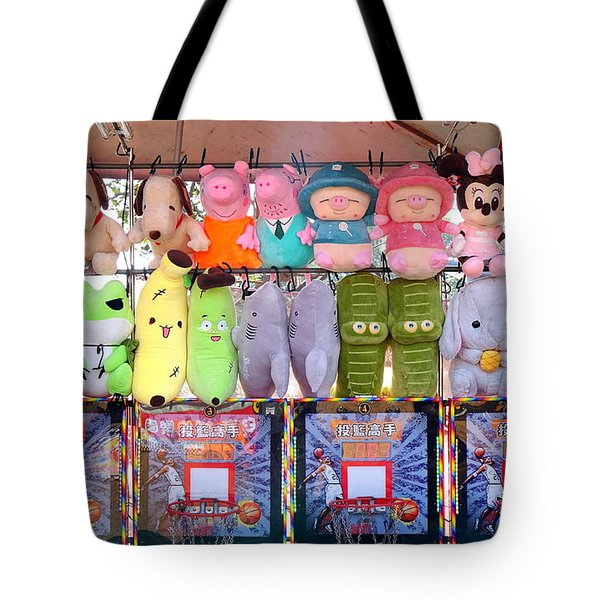 Stuffed Animals And Cartoon Characters Tote Bag