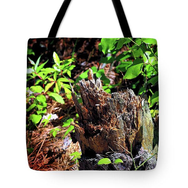 Tote Bag featuring the photograph Stumped On Assateague Island by Bill Swartwout Fine Art Photography