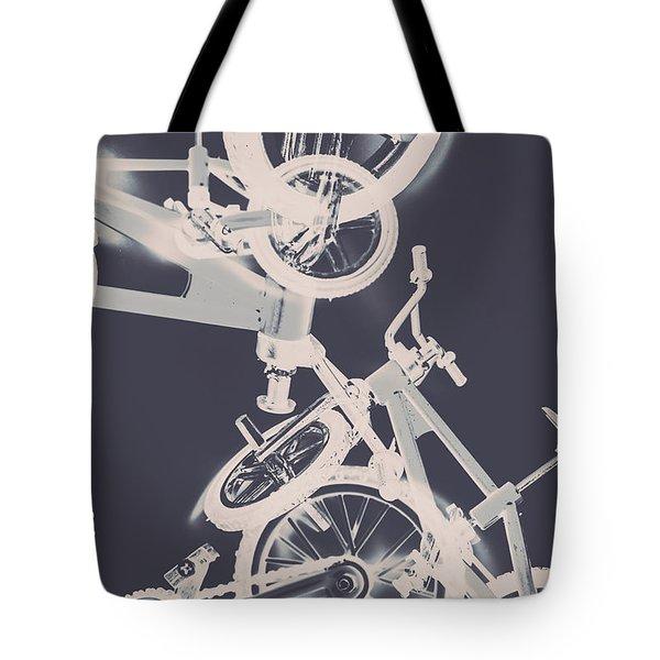 Stunt Bike Trickery Tote Bag