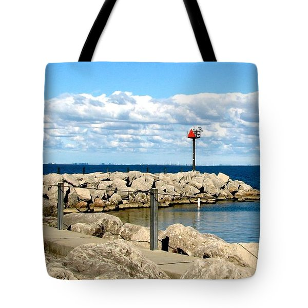 Sturgeon Point Marina On Lake Erie Tote Bag