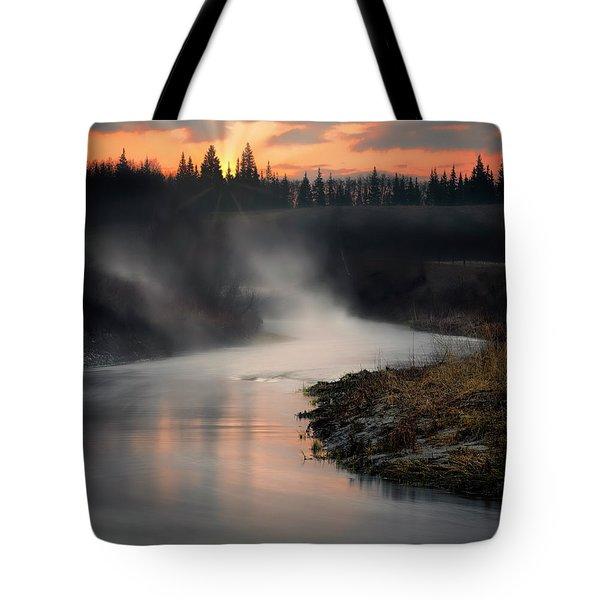 Sturgeon River Morning Tote Bag