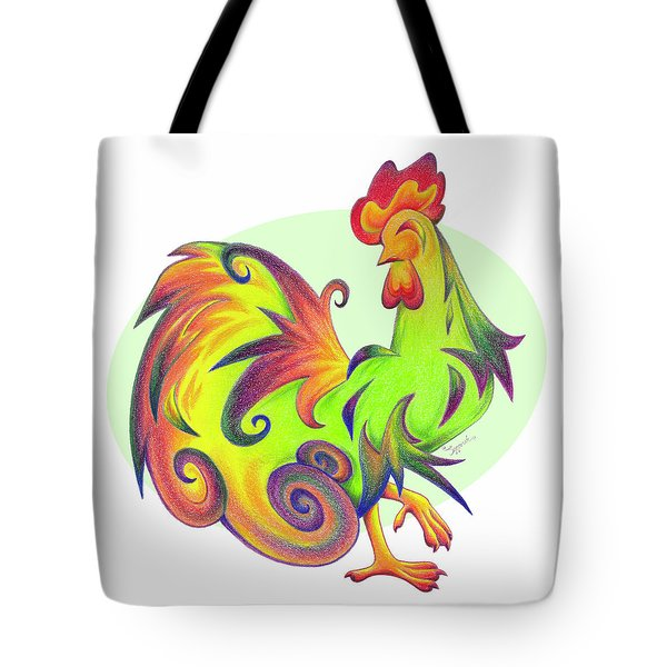 Stylized Rooster I Tote Bag