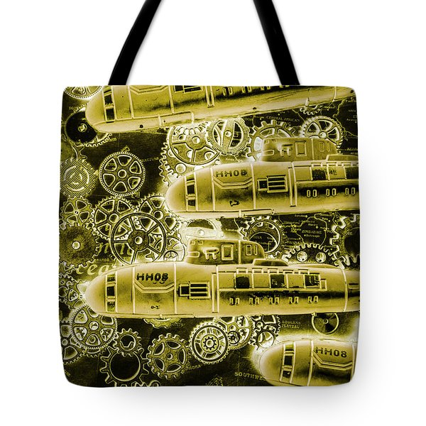 Submersible Seas Tote Bag