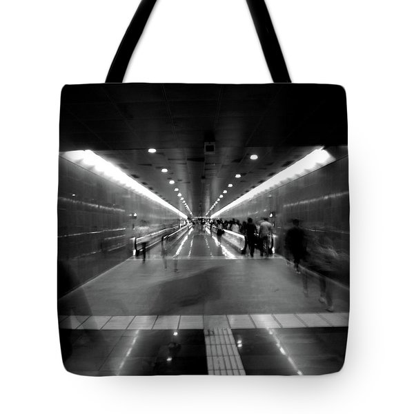 Subway Ghosts Tote Bag