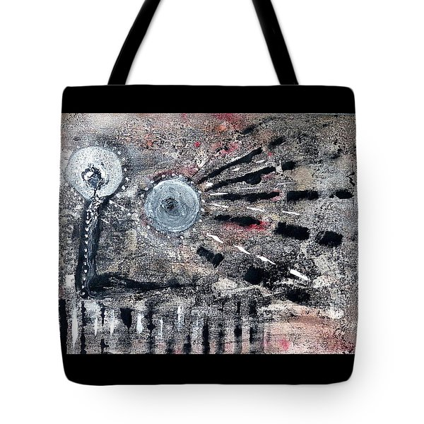 Tote Bag featuring the painting Succinct by 'REA' Gallery