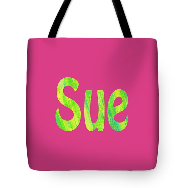 Tote Bag featuring the digital art Sue by Corinne Carroll