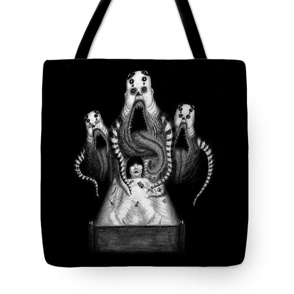 Tote Bag featuring the drawing Sugar Babies A Dark Nursery Rhyme - Artwork by Ryan Nieves