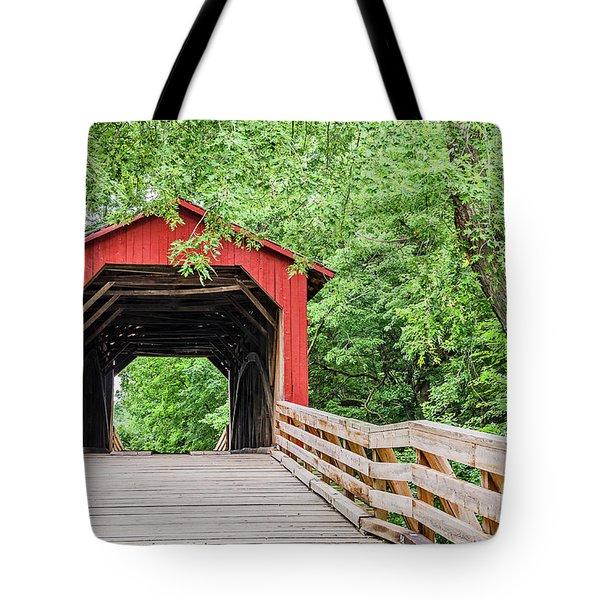 Sugar Creek Covered Bridge Tote Bag