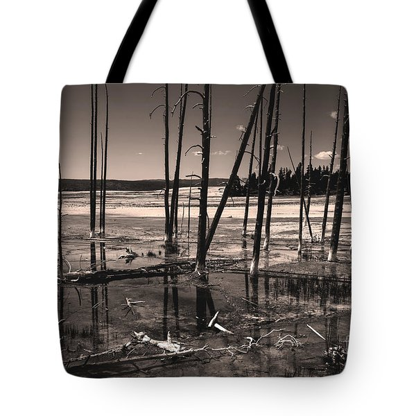 Tote Bag featuring the photograph Sulfur Field by Mae Wertz