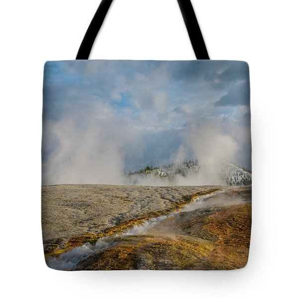 Tote Bag featuring the photograph Sulfur Morning Rise by Matthew Irvin