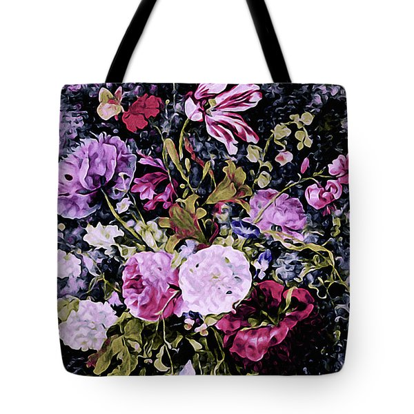 Tote Bag featuring the mixed media Summer Bouquet by Susan Maxwell Schmidt