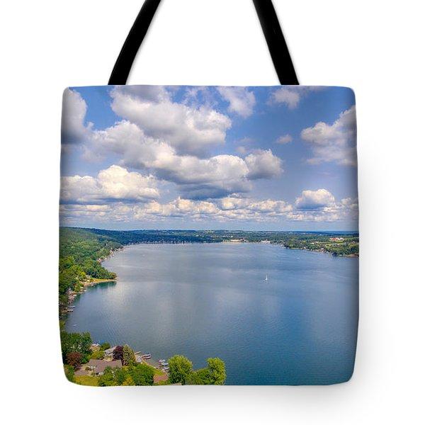 Summer Clouds On Keuka Lake Tote Bag
