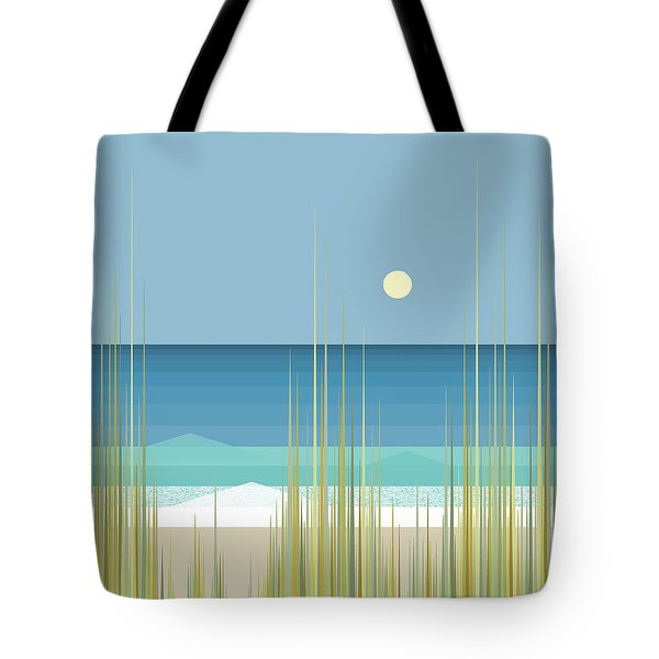 Summer Day At The Beach - Square Tote Bag