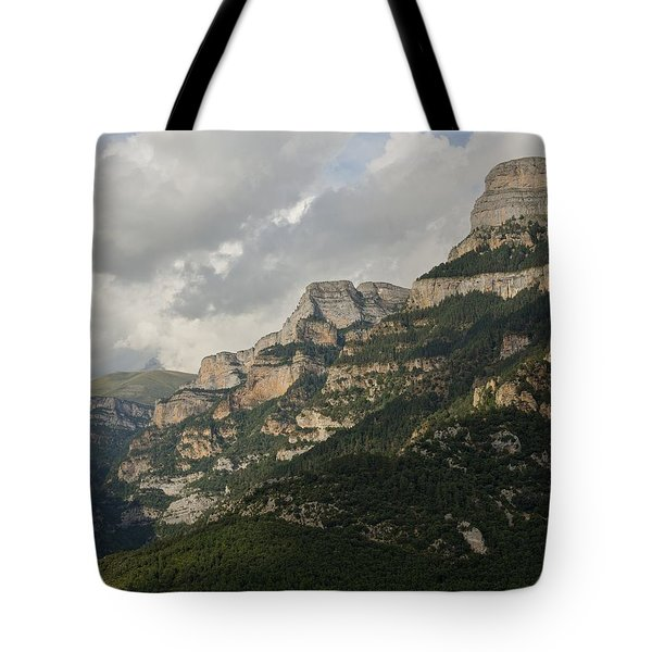 Tote Bag featuring the photograph Summer In The Anisclo Canyon by Stephen Taylor