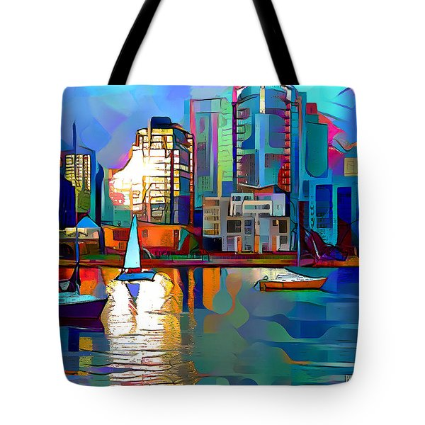 Tote Bag featuring the digital art Summer In The City by Pennie McCracken