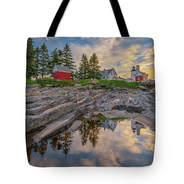 Summer Morning At Pemaquid Point Lighthouse Tote Bag