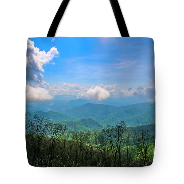 Summer Mountain View Tote Bag