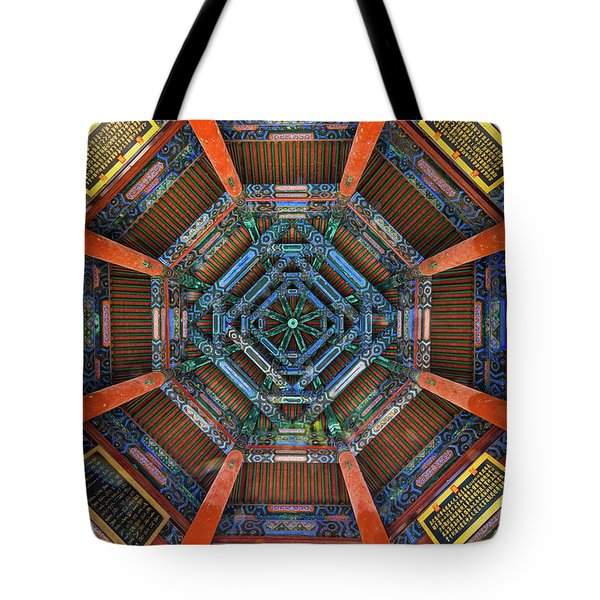 Summer Palace Ceiling Tote Bag