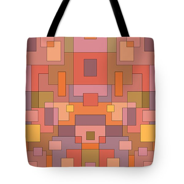 Summer Peach Abstract Tote Bag