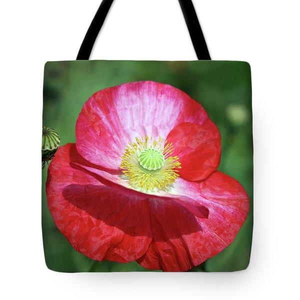 Summer Poppy Tote Bag