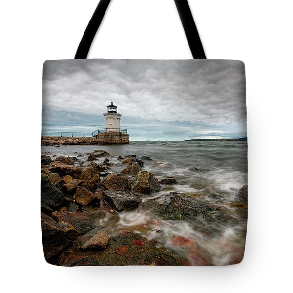 Summer Tides At Bug Light Tote Bag