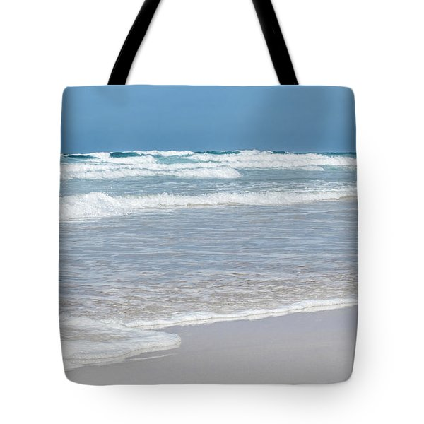 Tote Bag featuring the photograph Summer Wave I by Anne Leven