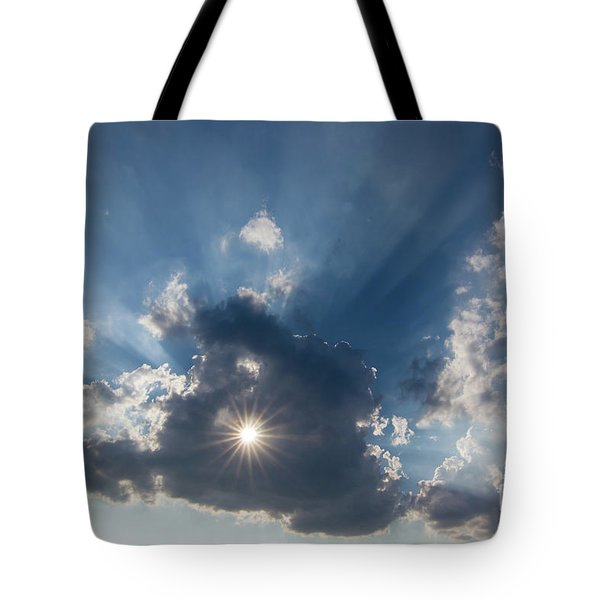 Sun Behind The Cloud With A Hole Tote Bag