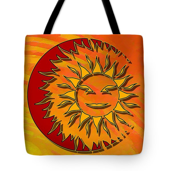 Tote Bag featuring the digital art Sun Eclipsing The Moon by David Manlove