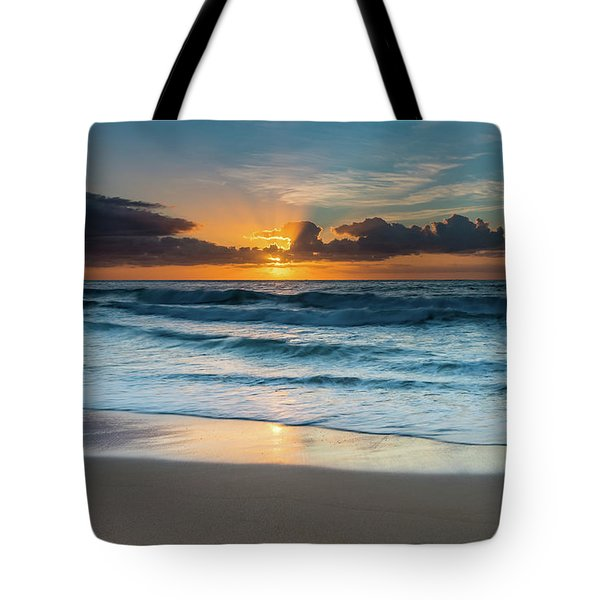 Sun Glow Seascape Tote Bag