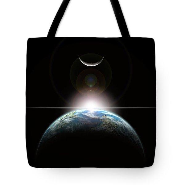 Sun Rise In Space No.1h Tote Bag