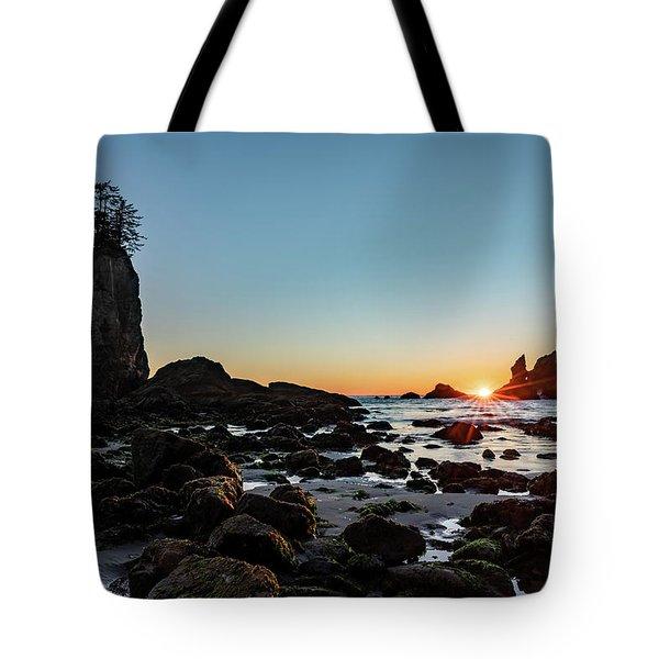 Sunburst At The Beach Tote Bag