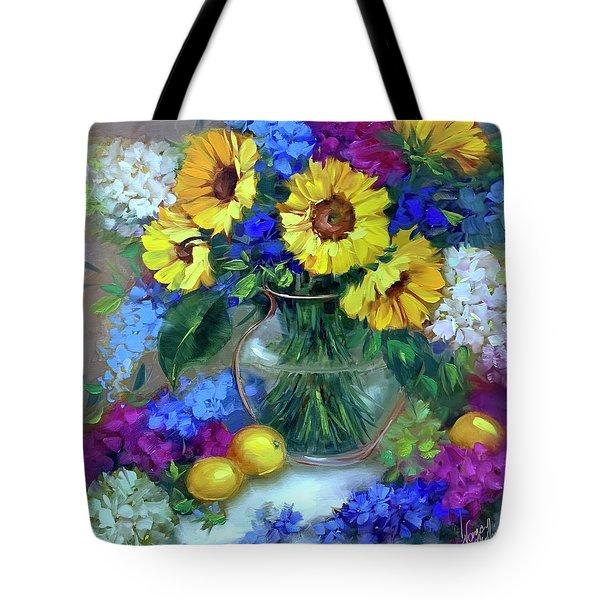 Sunflower Abundance Tote Bag
