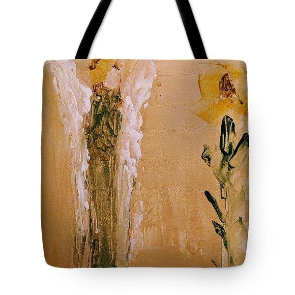 Sunflower Angel Tote Bag