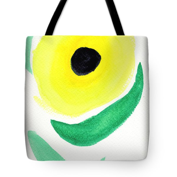 Tote Bag featuring the painting Sunflower by Bee-Bee Deigner