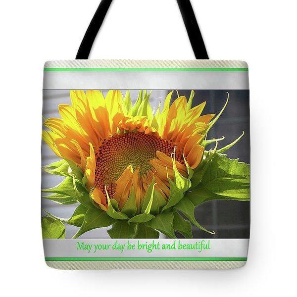 Sunflower Birthday Tote Bag