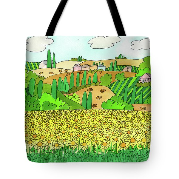 Sunflower French Countryside Tote Bag